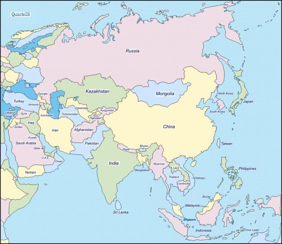 Sri Lanka Landkarte Karte Von Sri Lanka Und Den Umliegenden