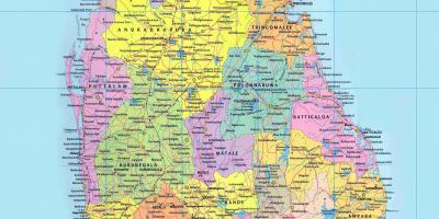 Sri Lanka Karte Zum Drucken.Sri Lanka Railway Map Bahn Route Map Sri Lanka Süd Asien Asia